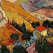 Landscape With House And Ploughman Art Print