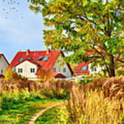 Landscape With Houses Art Print