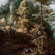 Landscape With The Temptation Of Saint Anthony Art Print