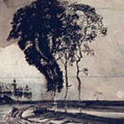 Landscape With Three Trees Art Print