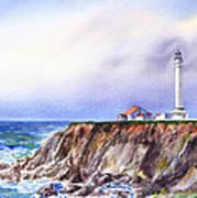 Lighthouse Point Arena California  Art Print