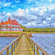Landskrona Sea Shore Painting Art Print