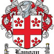 Langan Coat Of Arms Irish Art Print