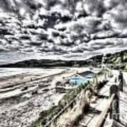 Langland Bay Painterly Art Print