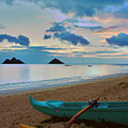 Lanikai Beach Sunrise 6 - Kailua Oahu Hawaii Art Print