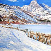 Valbona Snow - Margjeka Hotel Art Print