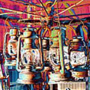Lantern Chandelier 02 Art Print