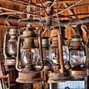 Lantern Chandelier Art Print