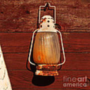 Lantern On Red Art Print