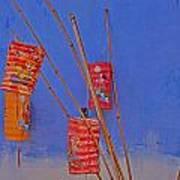 Lanterns A Penang. Art Print