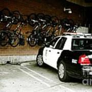 Lapd Cruiser And Police Bikes Print by Nina Prommer