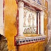 Lararium Of Family Altar, Seen In Situ Art Print