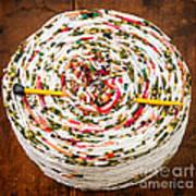 Large Ball Of Colorful Yarn Art Print