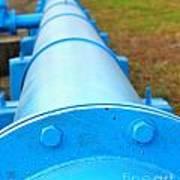 Large Blue Pipeline Art Print