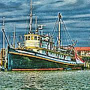 Large Fishing Boat Hdr Art Print