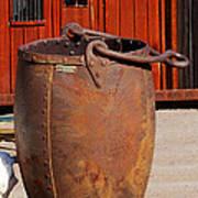 Large Mining Bucket Art Print