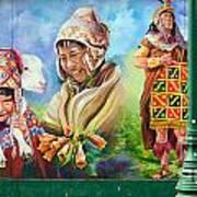 Large Mural In Cusco Peru Part 4 Art Print