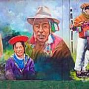 Large Mural In Cusco Peru Part 6 Art Print