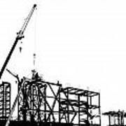 Large Scale Construction In Outline Art Print