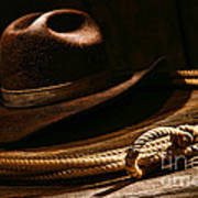 Lariat And Hat Art Print