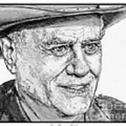 Larry Hagman In 2011 Art Print by J McCombie