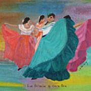 Las Bailarinas De Costa Rica Art Print