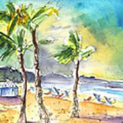 Las Canteras Beach In Las Palmas De Gran Canaria Art Print