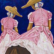 Las Charras Rosadas Art Print