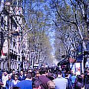Las Ramblas - Barcelona Spain Art Print