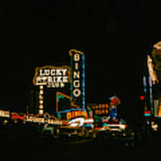 Las Vegas Lights2 Art Print