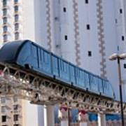 Las Vegas Monorail And Excalibur Hotel Art Print