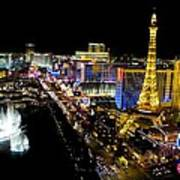 City - Las Vegas Nightlife Art Print