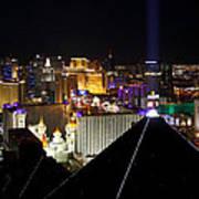 Las Vegas Night Pano Art Print