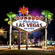 Las Vegas Sign Art Print