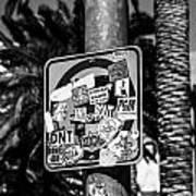 Las Vegas Sticker Sign Art Print