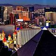 Las Vegas Sundown Art Print