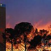 Las Vegas Trump Tower Sunset Art Print