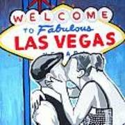 Las Vegas Wedding Art Print by Gary Niles