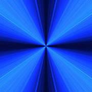 Laser Blue Light Art Print