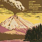 Lassen Travel Poster 1938 Art Print