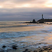 Last Light At Pigeon Point Lighthouse Art Print