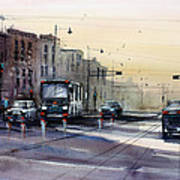 Last Light - College Ave. Art Print by Ryan Radke