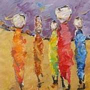Last Of Nuba 2 Art Print by Negoud Dahab