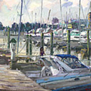 Late Afternoon In Virginia Harbor Art Print