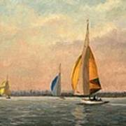 Late Finish  Featuring Dragons On The Medway Art Print
