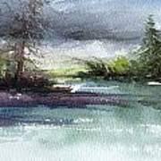 Late Lake Art Print