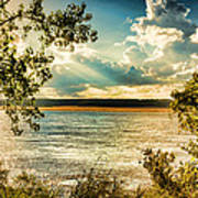 Late Summer Afternoon On The Mississippi Art Print