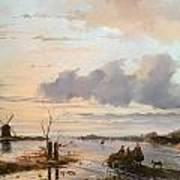 Late Winter In Holland Art Print by Nicholas Jan Roosenboom