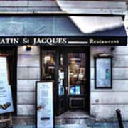 Latin St Jacques Paris France Art Print