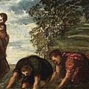 Latona Changing The Lycian Peasants Into Frogs Art Print